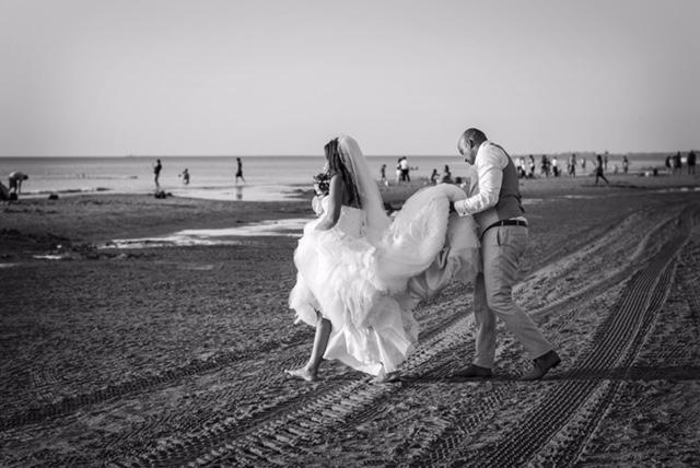 Bruiloft aan zee,