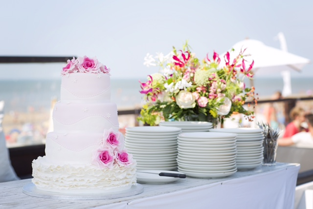 De bruilofts taart