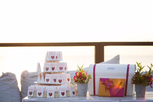 Kadootjes voor de bruiloftsgasten