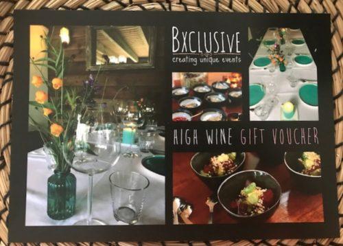 High Wine gift voucher